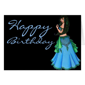 Lacy Belly Dancer Greeting Card