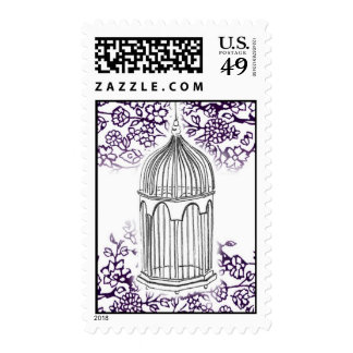 Lacy Birdcage Postage