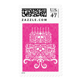 Lacy Birthday Cake Stamp