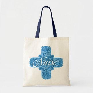 Lacy Blue Nurse Cross Tote Bag