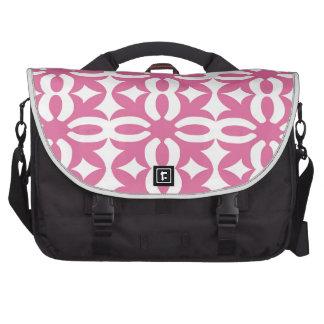 Lacy Bubblegum Pink Victorian Print Laptop Messenger Bag