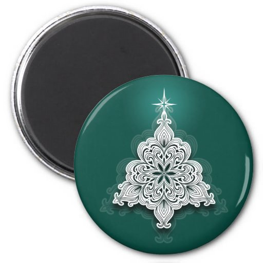 Lacy Christmas Tree Magnet