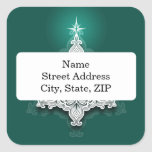 Lacy Christmas Tree Personalized Sticker