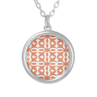 Lacy Coral Victorian Print Silver Plated Necklace