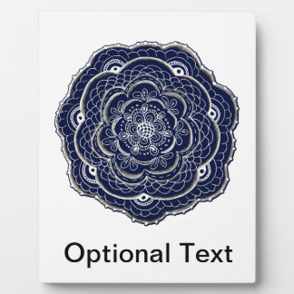 Lacy Crochet Look Doily Hand Drawn Flower Doodle Plaque