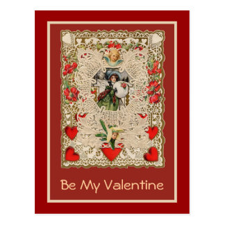 Lacy Design Victorian Valentine Greeting Cards Postcards