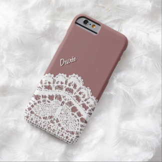 Lacy design with your Name Barely There iPhone 6 Case