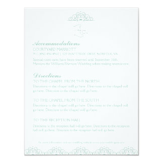 Lacy Doily Wedding Information Enclosure Card MInt