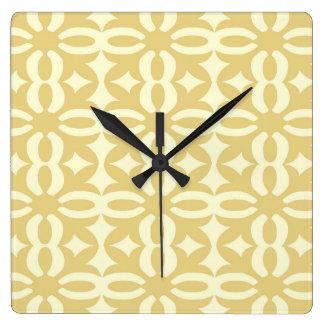 Lacy Eggshell Victorian Print Square Wall Clock