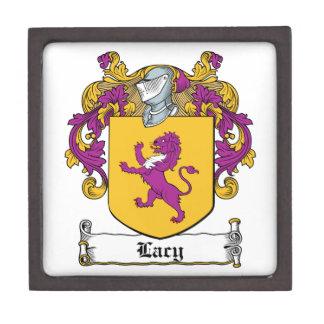 Lacy Family Crest Premium Trinket Box