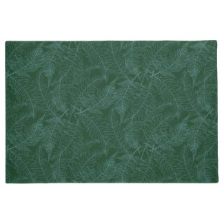 Lacy Ferns Dark Green Floor Mat
