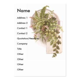 Lacy Ferns Victorian Scrapbook Card Business Card Template