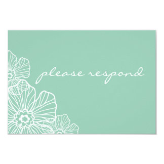 Lacy Floral RSVP Card