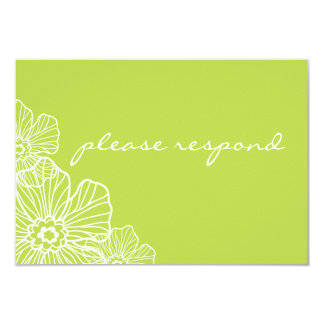 Lacy Floral RSVP Card | lime