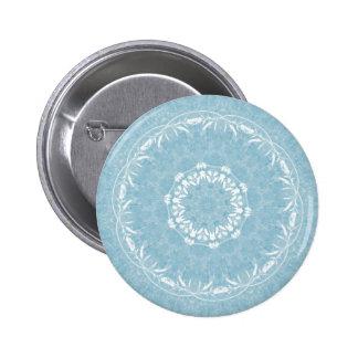Lacy Flowers Mandala Button Flair