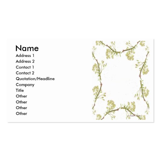 Lacy frame using scanned Florida wildflowers Double-Sided Standard Business Cards (Pack Of 100)