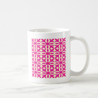 Lacy Fuchsia Victorian Print Coffee Mug