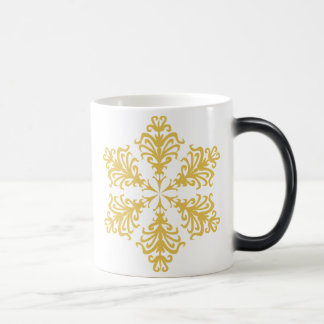 Lacy Gold Christmas Snowflake Coffee Mug