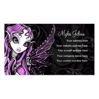 """""""Lacy"""" Gothic Pink Valentine Fairy Buisness Card Business Card"""