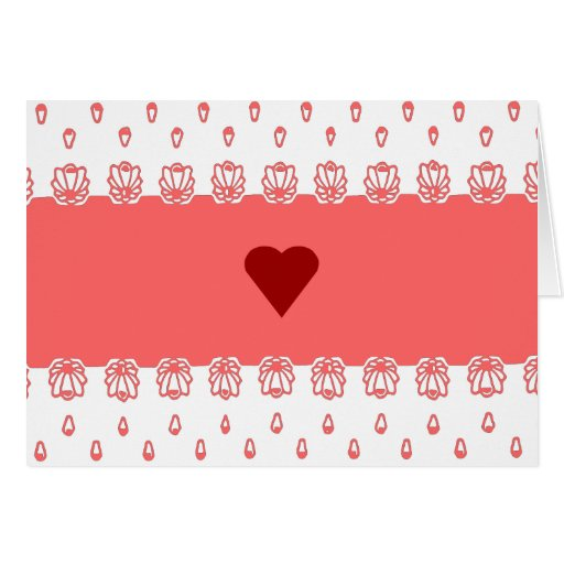 Lacy Heart Valentine Card