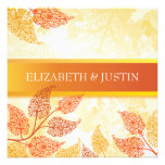 Lacy Leaves Fall Wedding Invitation