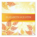 Lacy Leaves Fall Wedding Invitation