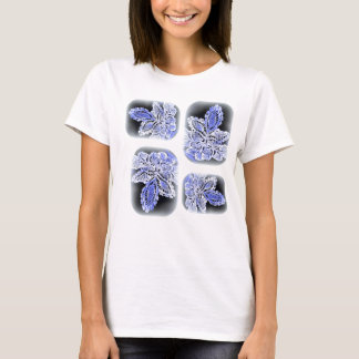 lacy leaves in blue & white t T-Shirt