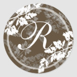 Lacy Leaves/ Monogram Stickers