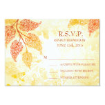 Lacy Leaves Wedding RSVP Card Invitations