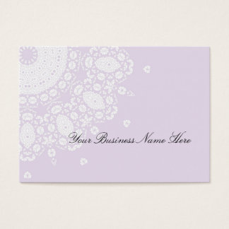 Lacy Lilac White Stylish Business Cards