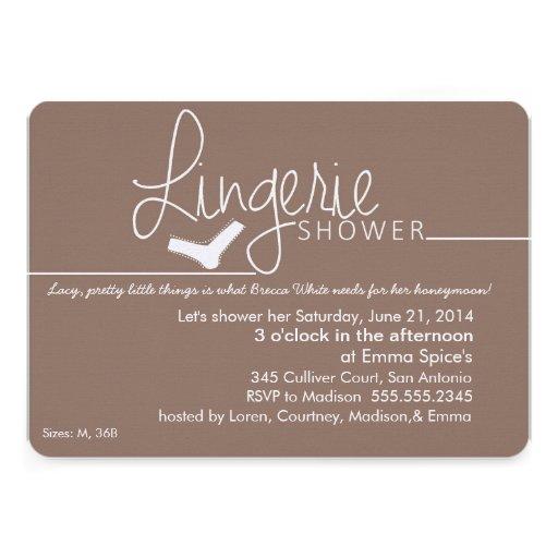 Lacy, Little Lingerie Shower Invitation
