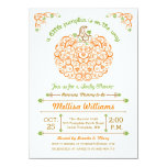Lacy Little Pumpkin Baby Shower Invitation