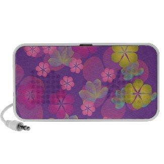 Lacy Lotus Purple Doodle Speaker zazzle_doodle