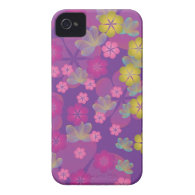 Lacy Lotus Purple iPhone 4 Case