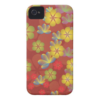 Lacy Lotus Red Blackberry Case