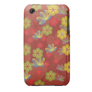 Lacy Lotus Red iPhone 3 Case