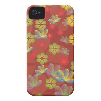 Lacy Lotus Red iPhone 4 Case