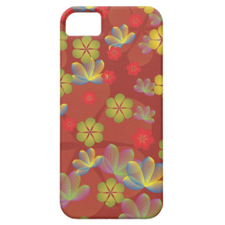Lacy Lotus Red iPhone 5 Case