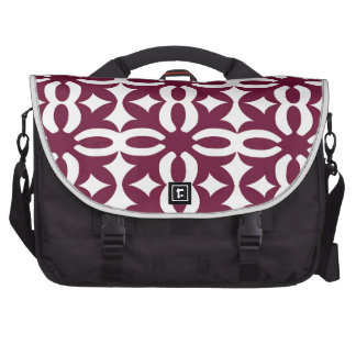 Lacy Maroon Victorian Print Bags For Laptop