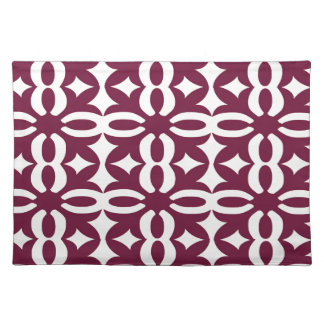 Lacy Maroon Victorian Print Cloth Placemat