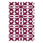 Lacy Maroon Victorian Print Stationery