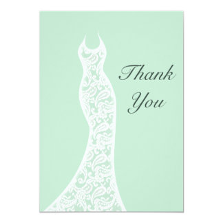 Lacy Mint Thank You Card