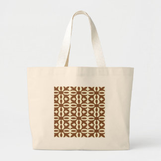 Lacy Mocha Victorian Print Large Tote Bag