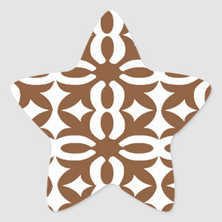 Lacy Mocha Victorian Print Star Sticker