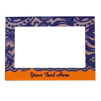 Lacy Orange & Blue Magnetic Photo Frame
