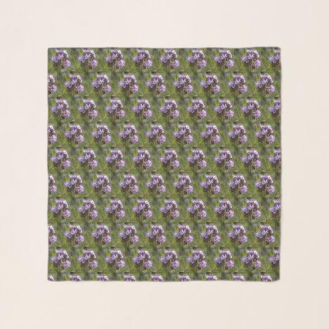 Lacy Phacelia Floral Chiffon Scarf
