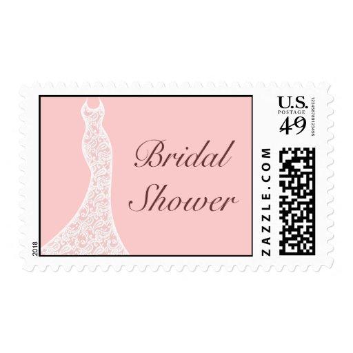 Lacy Pink Bridal Shower Stamp Stamp
