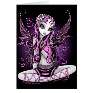 Lacy Pink Fairy Valentines Day Card