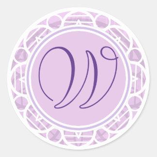 Lacy Pink Flower Monogram Sticker
