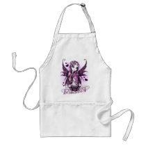 myka, jelina, pink, ribbon, breast, cancer, awareness, fairy, heart, purple, cute, faerie, faery, fae, fairies, gothic, valentine aprons, Apron with custom graphic design